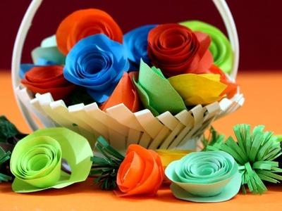 How to make Flower Vase | Flower Vase Making With Paper Cup #Flowervase #Origami #crafts
