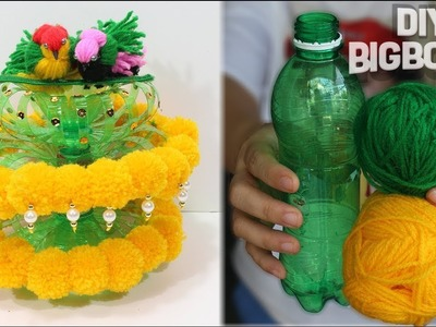 How to make flower vase with wool | 7| Best idea 2018 | DBB