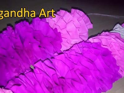 How to Make Garland With Paper ll Paper Har and Toran ll Mandap Decoration ll Ganpati decoration ll