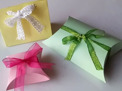 How to make gift box with paper - Easy!