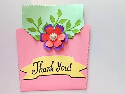 How to make greeting cards | Thank you card ideas