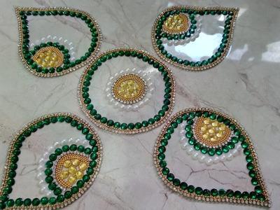 How To Make Kundan Rangoli | CraftLas