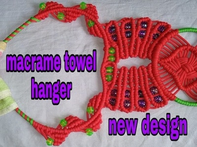 How to make macrame wall hanging,towel hanger diy.