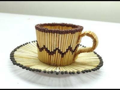 How to make Matchstick Tea cup   Matchstick Art