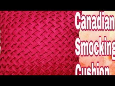 How to make new design _canadian smocking  _cushion _beautiful design