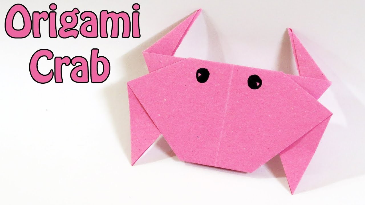 How to make Origami Crab   Easy Origami Crab Tutorial (2018)