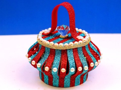 How to Make Plastic Bottle and Glitter Foam Sheet Basket in Easy Way - Best Out of Waste Ideaa