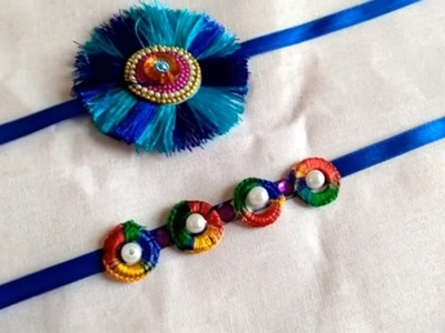 How to make Rakhi at Home. Resham thread Rakhi.Rakhi making ideas. Beautiful Rakhi at home