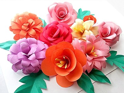 How to Make Rose Paper Flowers | DIY Rose Paper Flower | Easy Paper Crafts!
