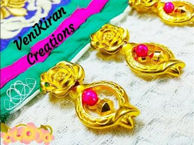 How to Make Saree Tassel.Border design with Beads @ Home - Design 69::Tutorial