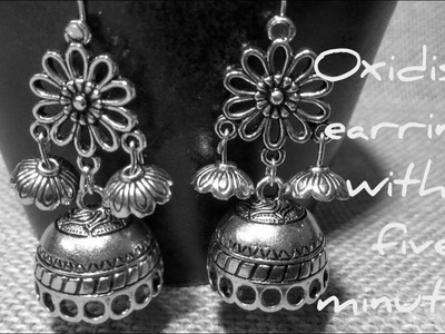 How to make this Trending oxidized earrings just in 5 minutes  || periwinkle TV