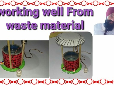 How to make water well model | waste material ideas | best out of waste  things for kids project
