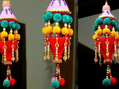 How to Make Wind Chime.Wall Hanging at Home | New way to reuse Plastic Bottle.Wool craft
