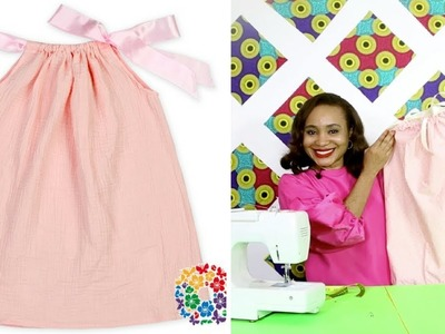 How to sew a cute little girl's dress - QUICK SEW!