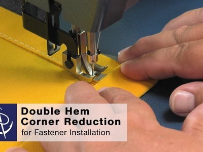 How to Sew a Double Hem with Corner Reduction
