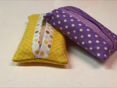 How to Sew a Fabric Pocket Tissue Holder