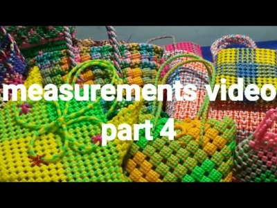 How to take measurement for baskets part 4