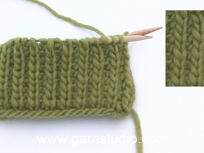 How to work false English rib and purl stitches on the round