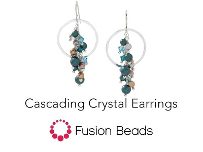 Learn how to create the Cascading Crystal Earrings by Fusion Beads