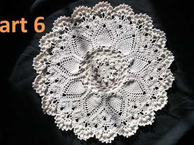 Learn How to Crochet the Advanced Pineapple Cluster Stitch Doily Tutorial -Part 6