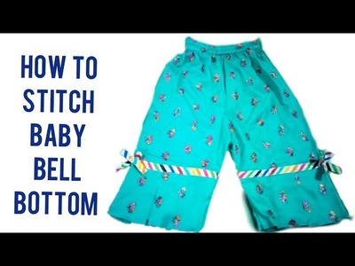 Learn how to stitch baby bell bottom pent box pleated
