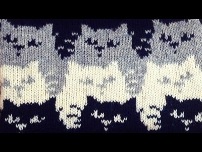 New Knitting Design.Pattern of 3 Cats   in hindi   part 1.2  