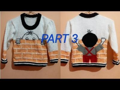 New knitting designer sweater for kids||Part 3.5||in hindi||