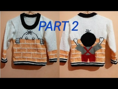 New knitting designer sweater for kids||Part 2.5 ||in hindi||