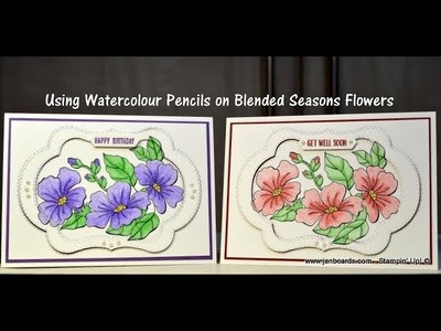 No.408 - HOW TO. . use Watercolour Pencils on Blended Seasons - UK Stampin' Up!
