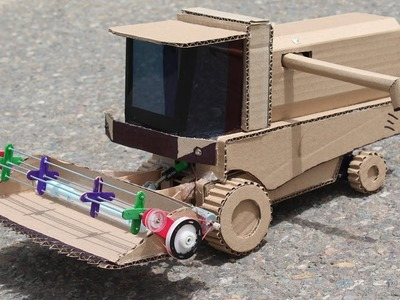 RC Harvester! How to make a Harvester From Cardboard ! RC Combine