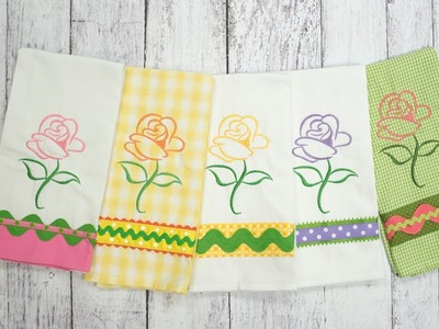 Rosie's Gift Garden - How to Trim the Towel