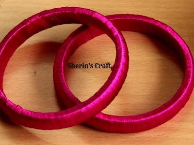 Silk Thread Bangles Making | How To Make Thread Bangles