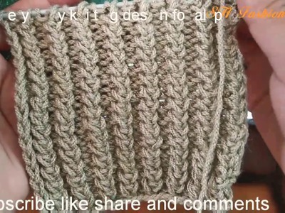 Very easy knitting design for all projects. easy knitting pattern in Hindi ( English subtitles).