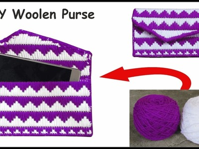 Woolen crafts bag | how to make woolen purse at home