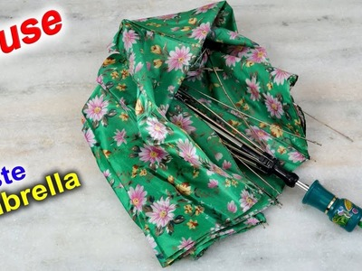 WOW ! Waste Umbrella Craft   How to recycle umbrella at Home   DIY Kitchen Organization Ideas Indian
