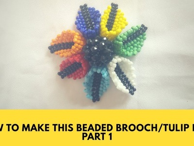 Bead tutorial. How to make this tulip leaf part 1