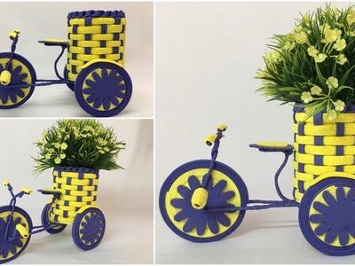 Bicycle Flower vase Holder | How to Make Decorative Bicycle For Flower Pot Holder