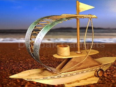 Boat---How to make Wooden Showpiece Ship---Popsicle Ship