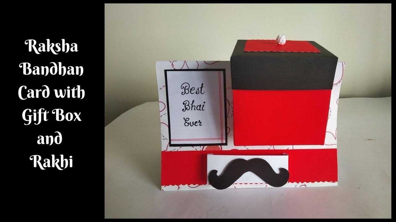 DIY Gift Box in a Card   How to make Raksha Bandhan Card for Brother at home   Handmade Card