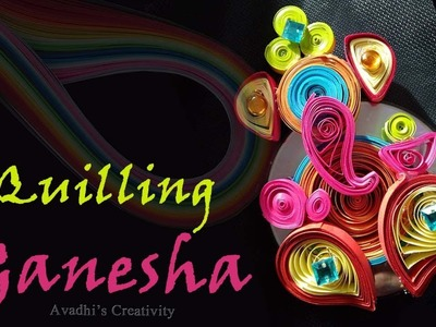 DIY Handmade Paper Quilling : How to make Lord Ganesha