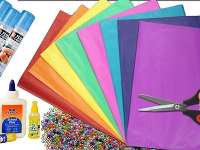 Diy Home Decor idea with Color Paper   How to Decor  your Home with Paper