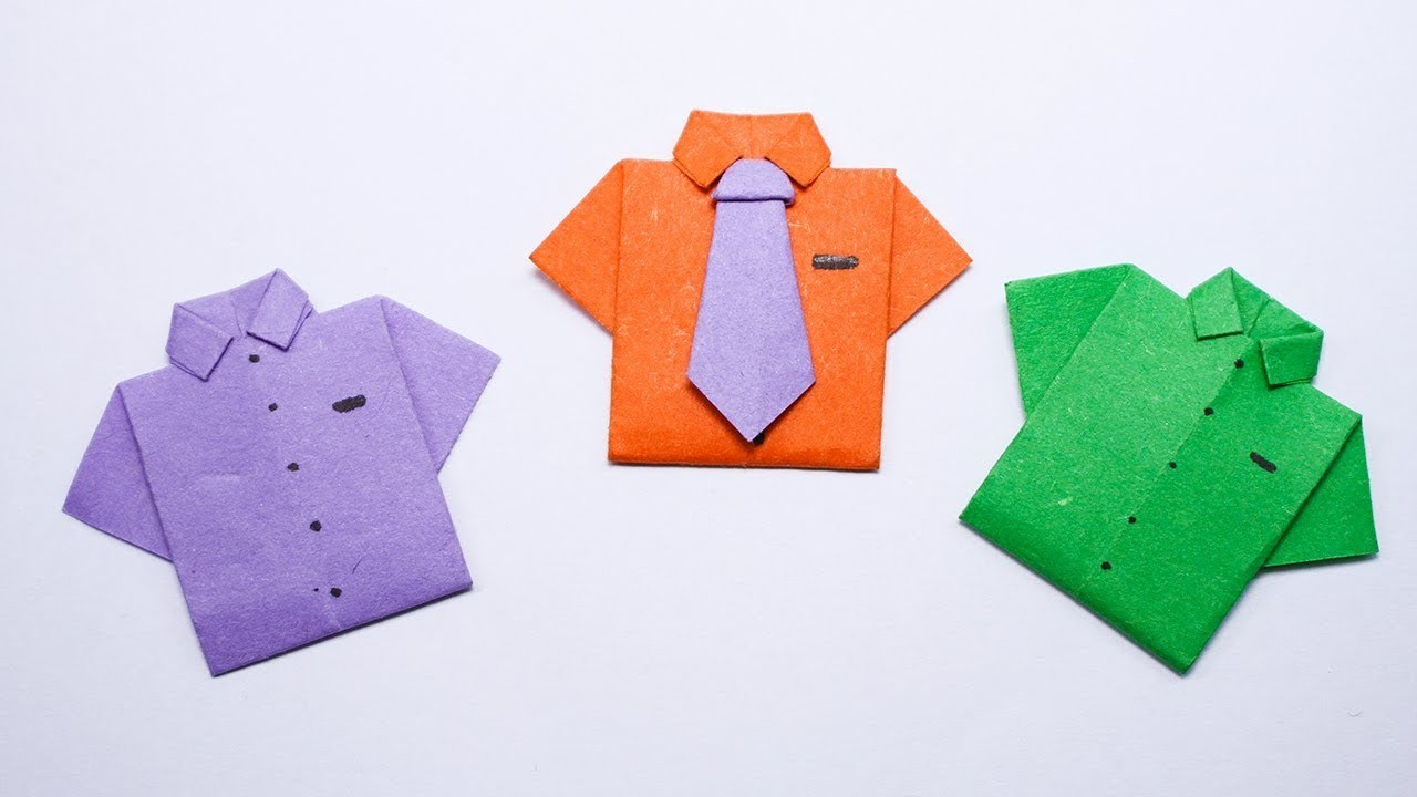 easy origami paper shirt and tie how to make paper shirt