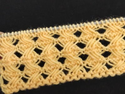 Elongated Loop Cross Stitch. Openwork Knitting for Cardigans and Fancy Scarves