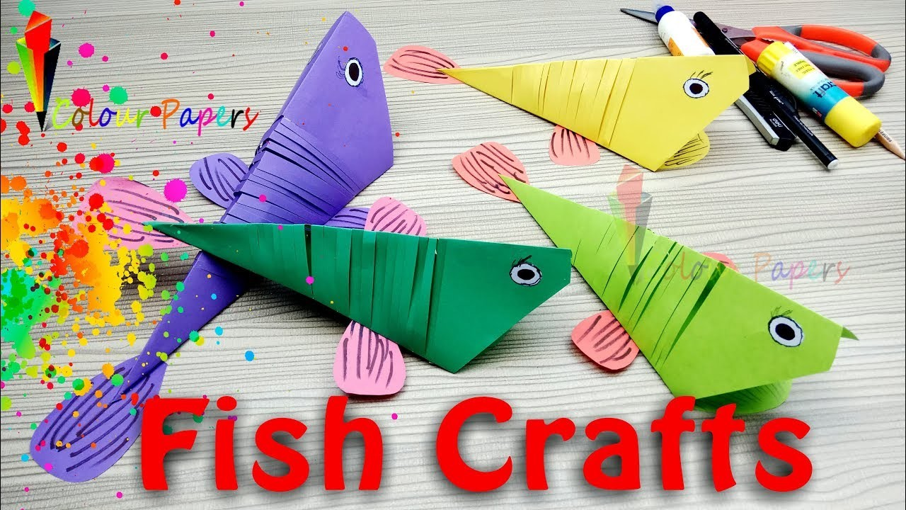 Fish Crafts Kids How To Make A 3d Paper Fish For Kids Diy