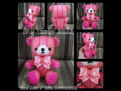 How to Bead My Teddy Bear Part 3.Beading Tutorial