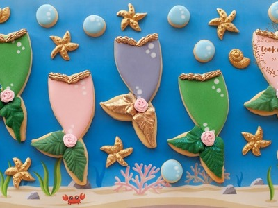 How to decorate MERMAID TAIL COOKIES
