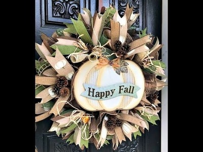 How to make a Fall Wreath with poof, ruffles, and rolls.