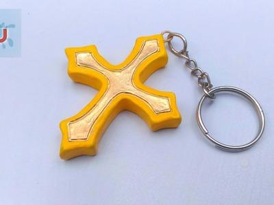 How to make a keychain | jesus keychain | clay keychain