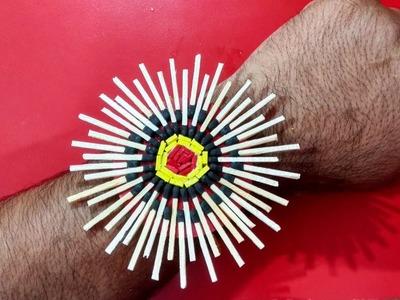 How to make a matchsticks rakhi.unique rakhi for raksha bandhan | Rakhi designs | Matchsticks rakhi