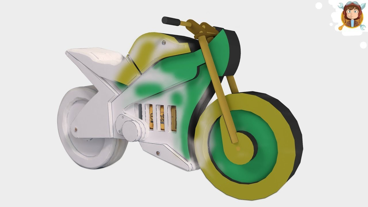 How to Make a Motorcycle - (Recycle - Toy)